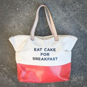 Kate Spade Eat Cake for Breakfast Tote ORIGINAL